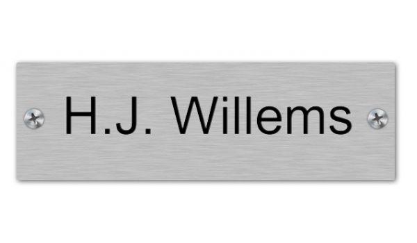 Aluminium naamplaatje