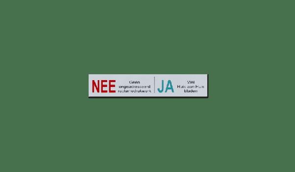 Aluminium Nee Ja bord