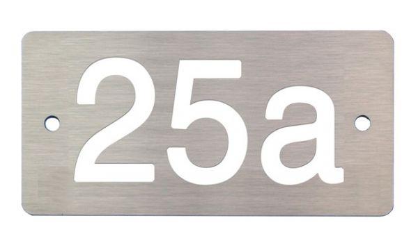 Aluminium huisnummerbord