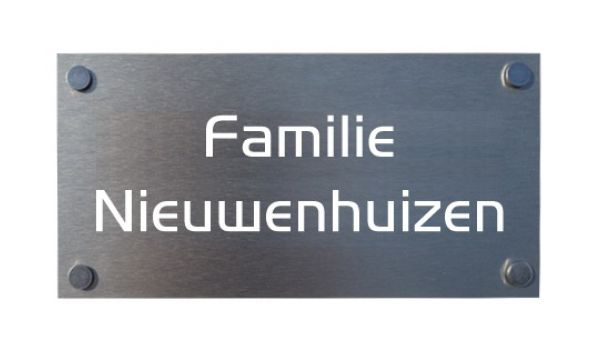 Aluminium naambord