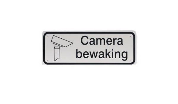 Tekstbord Aluminium Camera bewaking