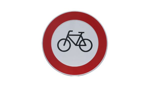 Verbodsbord Verboden voor fietsers