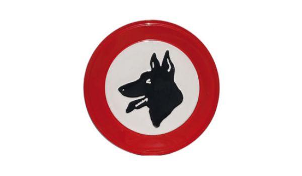 Verbodsbord Verboden voor honden