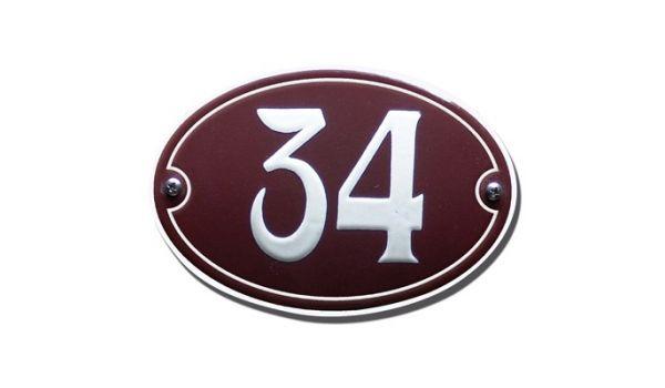 Emaille huisnummer