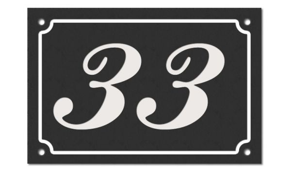 Klassiek Emaille look huisnummer