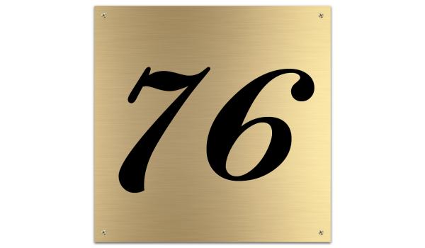 Messing huisnummerbord