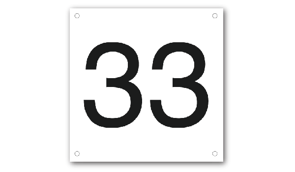 Basic huisnummerbord