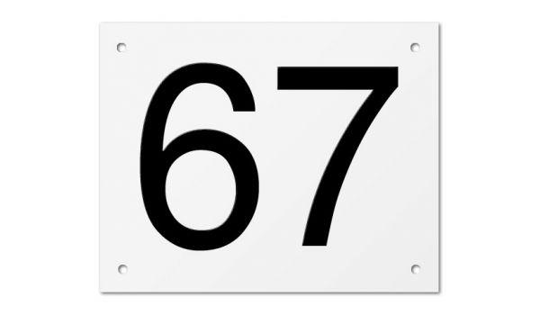 Kunststof huisnummerbord