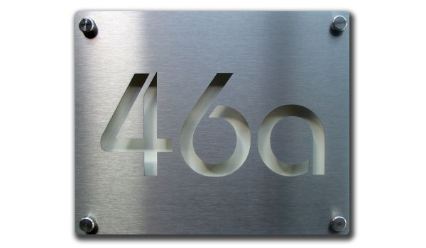 RVS lasergesneden huisnummer