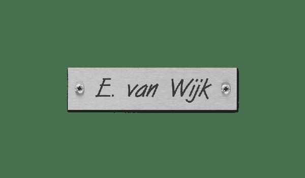RVS naamplaatje
