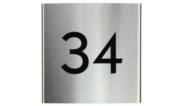 RVS naambord gebogen