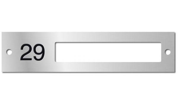 Naamplaathouder enkel met nummer Aluminium