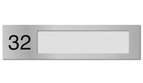 Naamplaathouder Aluminium met nummer