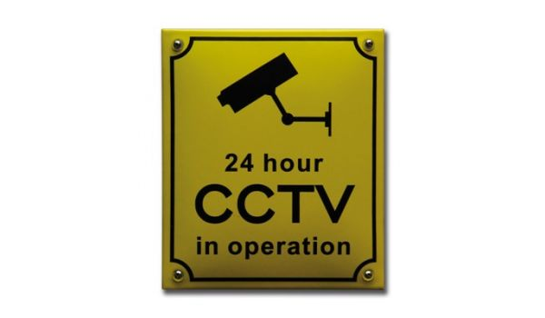Veiligheidsbord CCTV camerabeveiliging