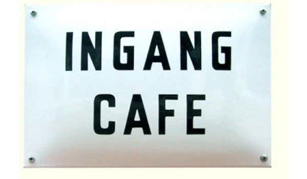 Horecabord Ingang cafe