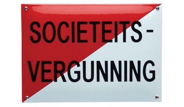 Horecabord Societeitsvergunning