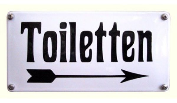 """Toiletbord """"Toiletten met pijl"""""""