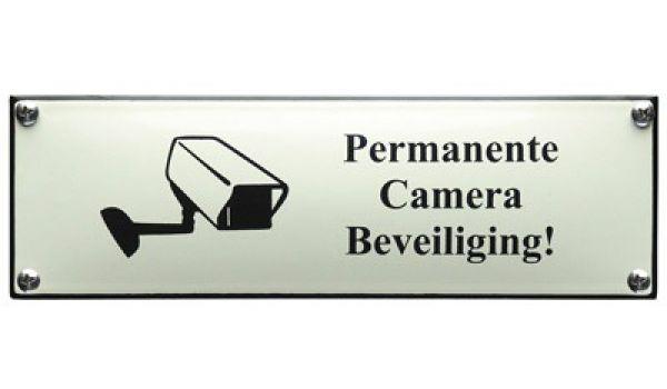 Veiligheidsbord Camerabeveiliging