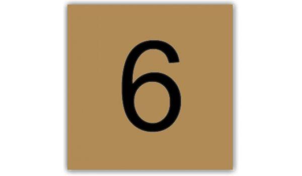 Nummerplaatje Kunststof