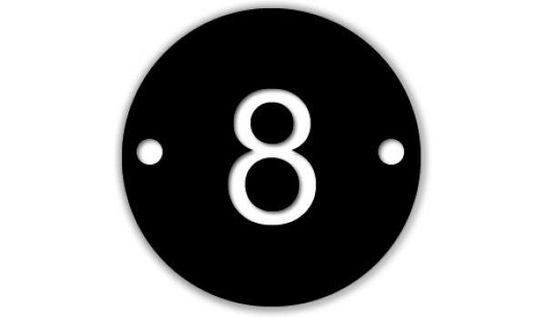 Nummerplaatje Kunststof rond