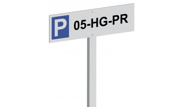 Parkeerpaal met kenteken