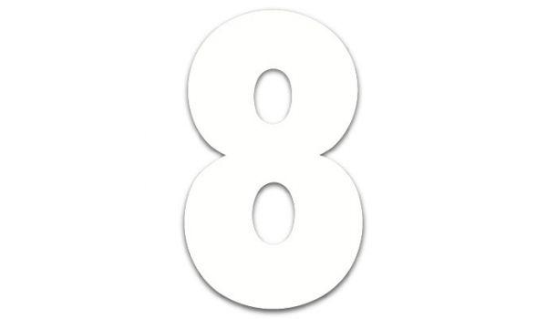Perspex huisnummers wit modern