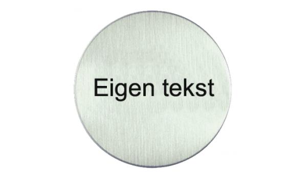 RVS pictogram eigen tekst