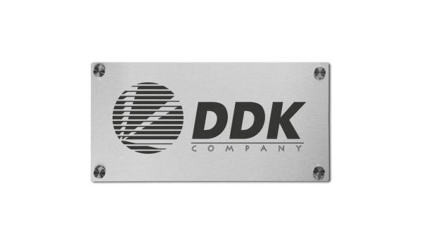 Bedrijfsnaambord rvs met logo