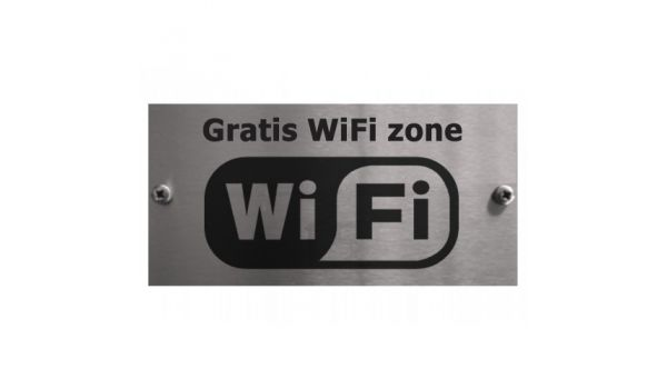 RVS gratis wifi zone bordje
