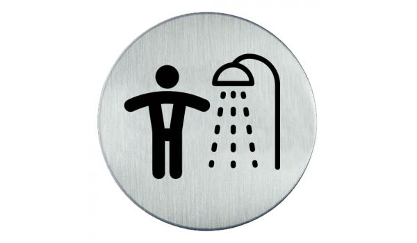 RVS pictogram Douche heren