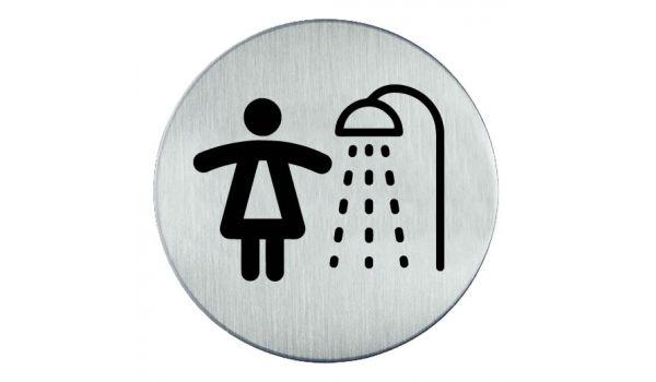 RVS pictogram Douche dames