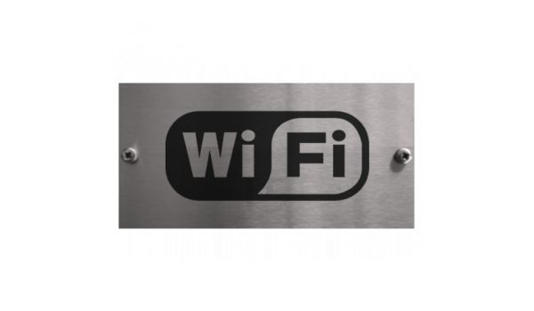 RVS wifi zone bordje