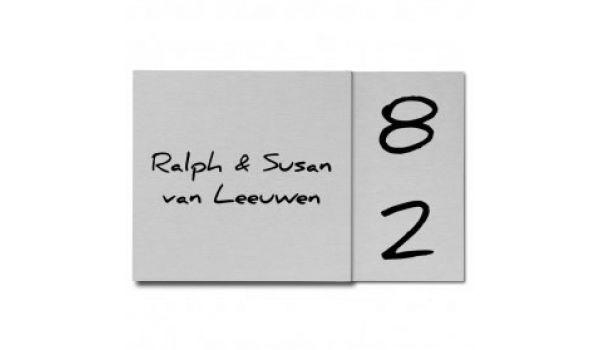 RVS naambord met KNIK