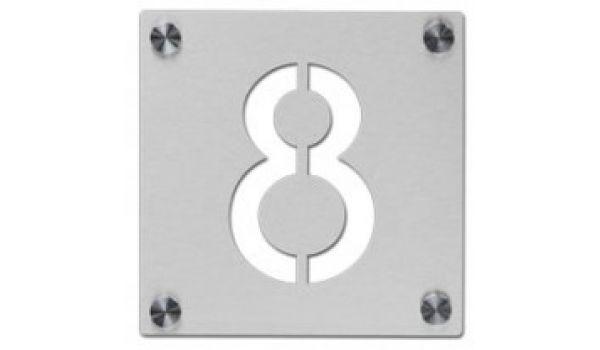 RVS lasergesneden huisnummerbord