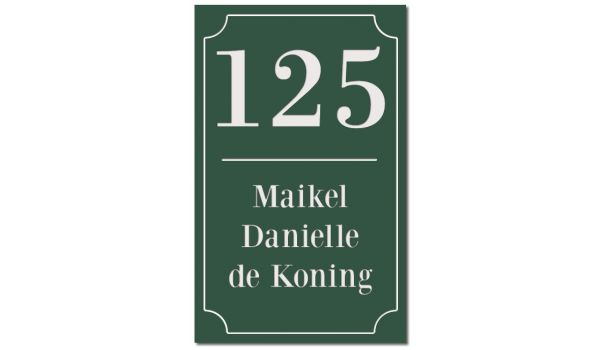 Klassiek Emaille look naambord