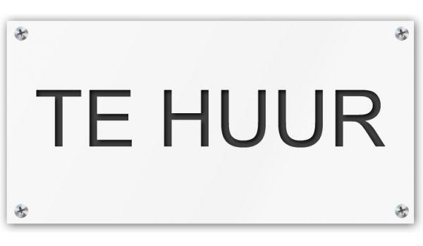 Tekstbord Te Huur