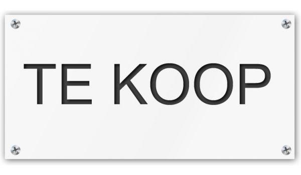 Tekstbord Te Koop