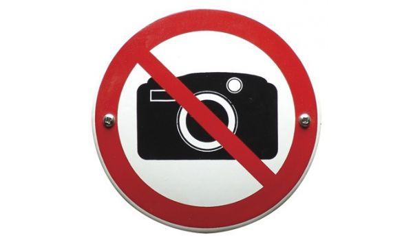 "Verbodsbord ""fotograferen verboden"""