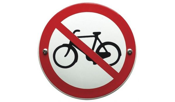 """Verbodsbord """"fietsen plaatsen verboden"""""""