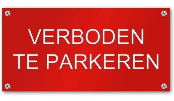 Tekstbord Verboden te Parkeren