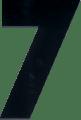 Perspex huisnummers zwart