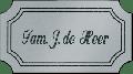 Kunststof naamplaatje zilverkleurig 11.5 x 6.5cm