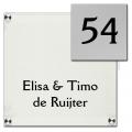 Acrylaat naambord met RVS