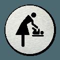 Pictogram rond Baby verschoonruimte