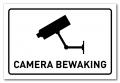 Waarschuwingsbord Camerabewaking wit