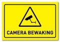 Waarschuwingsbord Camerabewaking
