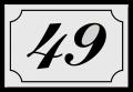 Huisnummerbord klassiek 12 x 8 cm wit