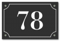 Huisnummerbord klassiek 15 x 10 cm zwart