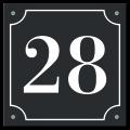 Huisnummerbord klassiek 15 x 15 cm zwart