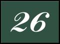 Huisnummerbord klassiek 22 x 16 cm groen